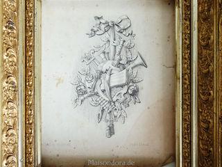 Maisondora Vintage Living Muren & vloerenAfbeeldingen & lijsten Hout Amber / Goud