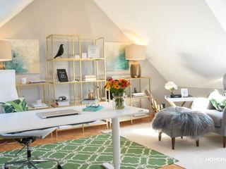 Wohnung im tropischen Stil Homemate GmbH Tropische Arbeitszimmer Grau