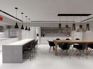 Jeffer Henrich Minimalist kitchen Marble White