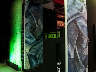 Art Gallery Clorofila Digital Simona Garufi Diseño de ferias de estilo minimalista Madera Negro