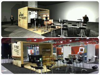 Business Bar C!Print Madrid 2016 Simona Garufi Diseño de ferias de estilo moderno