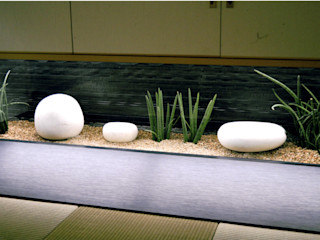 艸木/SOUMOKU Eclectic style garden Wood Black