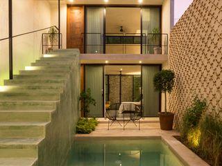 Taller Estilo Arquitectura Дома в стиле модерн Бетон Зеленый