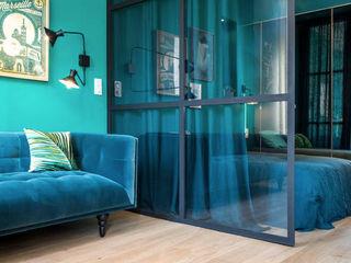 Insides Industrial style living room Metal Blue