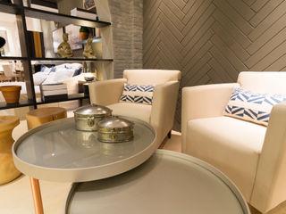 Duo Arquitetura Ruang Makan Modern Kayu Grey