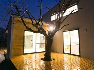 桜を眺める家 TKD-ARCHITECT モダンな 家 木