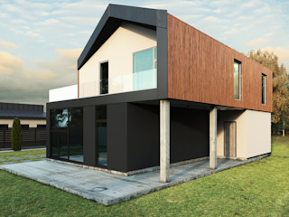 Grynevich Architects Minimalist house Wood Wood effect