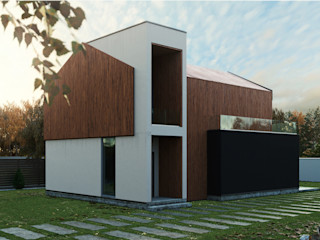 Grynevich Architects Minimalist house Engineered Wood Wood effect