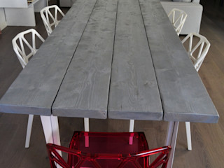 Elena Valenti Studio Design Dining roomTables Parket Grey