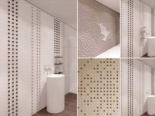 Pixel Tiles Alessandro Isola Ltd Bagno moderno Bianco
