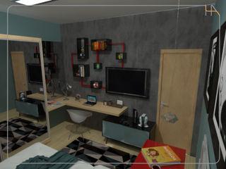 Humanize Arquitetura Industrial style bedroom