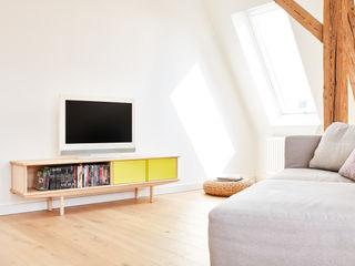 Modulares Sideboard aus Massivholz Neuvonfrisch - Möbel und Accessoires WohnzimmerSchränke und Sideboards Holz Mehrfarbig