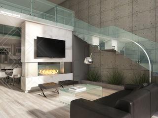 Casa JM CDR CONSTRUCTORA Salones modernos
