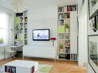Dunollie Place, Kentish Town, London - NW5 Brosh Architects Moderne Wohnzimmer