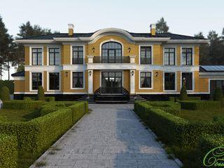Компания архитекторов Латышевых 'Мечты сбываются' Casas clássicas Tijolo Amarelo