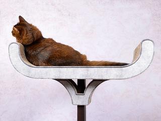 Design Kratzmöbel cat-on WohnzimmerAccessoires und Dekoration Holz Weiß