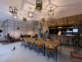ALTS DESIGN OFFICE Рабочий кабинет в рустикальном стиле Бетон Эффект древесины