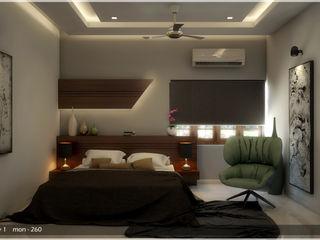 Victorian + Modern Contemporary Premdas Krishna Modern style bedroom
