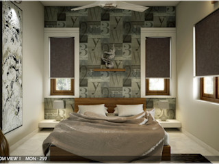 Modern Contemporary Premdas Krishna Modern style bedroom