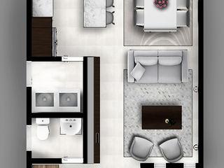 CIENTO30 CDR CONSTRUCTORA Pasillos, vestíbulos y escaleras modernos