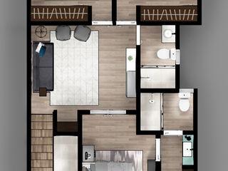 CIENTO30 CDR CONSTRUCTORA Dormitorios modernos