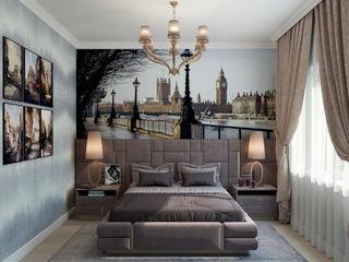 Студия дизайна Дарьи Одарюк 에클레틱 침실 멀티 컬러