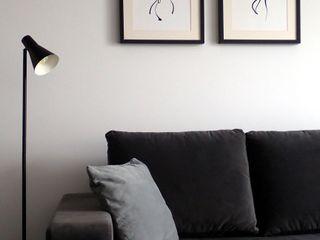 Aleksandra Jaros Pracownia Architektury i Wnętrz Minimalist living room White