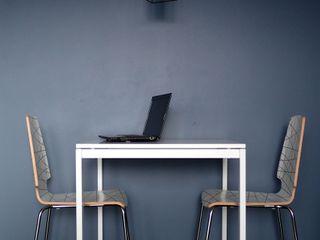 Aleksandra Jaros Pracownia Architektury i Wnętrz Minimalist dining room Blue