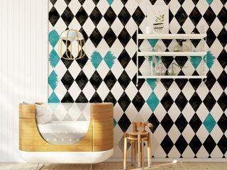Humpty Dumpty Room Decoration Walls & flooringWallpaper Turquoise