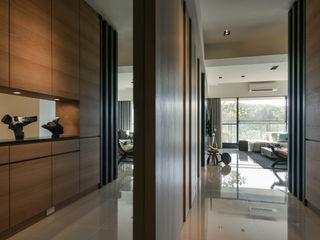 Quote 引景 CJ INTERIOR 長景國際設計 亞洲風玄關、階梯與走廊