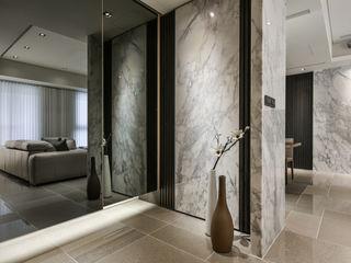 Tranquil 靜謐 CJ INTERIOR 長景國際設計 亞洲風玄關、階梯與走廊