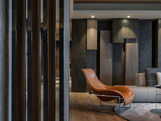 Contour of Life 廓│生活 CJ INTERIOR 長景國際設計 亞洲風玄關、階梯與走廊