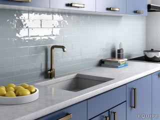 Equipe Ceramicas Cocinas de estilo moderno Cerámico Azul
