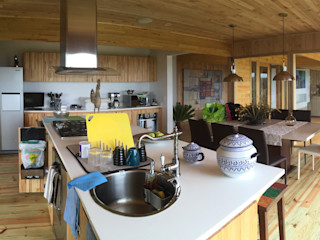 Taller de Ensamble SAS Modern kitchen Wood Wood effect