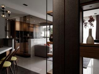 DYD INTERIOR大漾帝國際室內裝修有限公司 Pasillos, vestíbulos y escaleras de estilo asiático