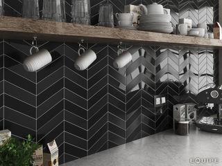 Equipe Ceramicas Cocinas de estilo moderno Cerámico Negro