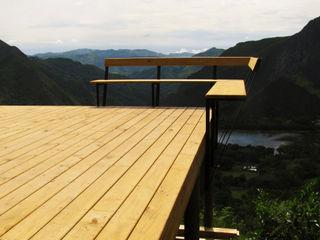Taller de Ensamble SAS Modern balcony, veranda & terrace Wood Wood effect