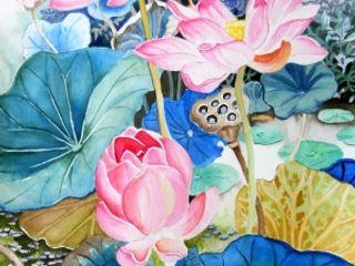 Indian Art Ideas ArteImagens e pinturas Rosa