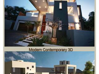 Urban concept architects Casas modernas Concreto Gris