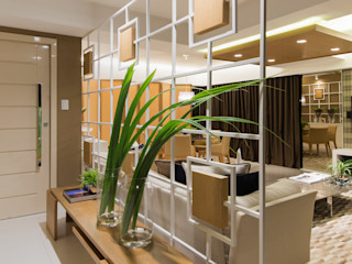 Matheus Menezes Arquiteto Modern Corridor, Hallway and Staircase Beige