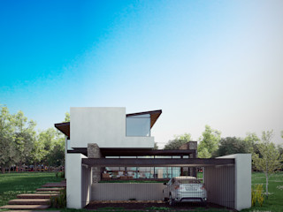 BAG arquitectura Modern Houses Iron/Steel Beige