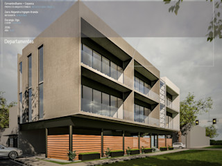 Cervantes Bueno arquitectura Modern houses Concrete Grey