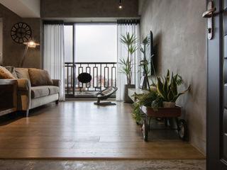 珞石設計 LoqStudio Industrial style living room