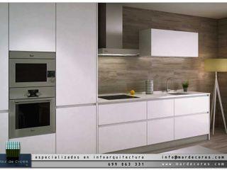 Visualización Arquitectónica (3D) Mar de Cores estudio 3D CocinaArmarios y estanterías