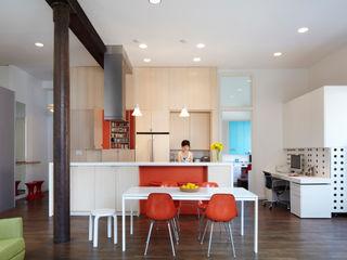 Bento Box Loft Koko Architecture + Design Modern Kitchen Orange