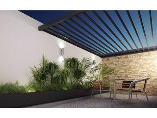 DAR Arquitectos Minimalist balcony, veranda & terrace