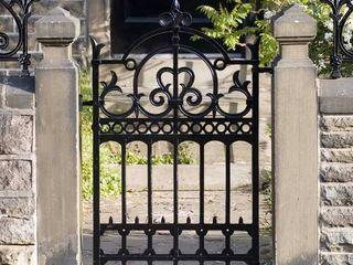Ferforje Bahçe Kapısı REYTAŞ DEMİR ÇELİK FERFORJE Rustik Evler Demir/Çelik Siyah