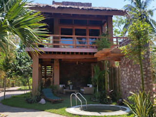Cervantes Bueno arquitectura Rustic style garden Stone Wood effect