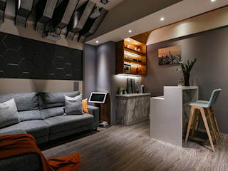 皇室空間室內設計 Salas multimedia de estilo moderno
