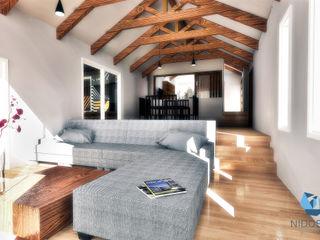 Living NidoSur Arquitectos - Valdivia Livings modernos: Ideas, imágenes y decoración